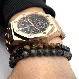 Other - Tigers Eye & Labradorite Beaded Bracelet Set